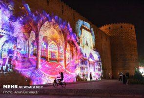 اجرای نورپردازی سه بعدی در ارگ کریمخان شیراز/تصاویر