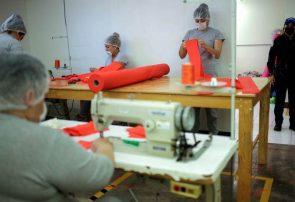 تولید ماسک در زندان زنان