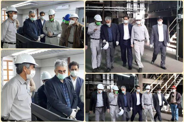بازدید مدیرعامل شرکت مس از کارخانه ۱۲۰ هزار تنی ذوب خاتونآباد